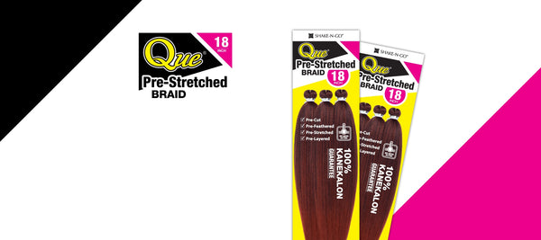 Que 3X Pre-Stretched Braid 18""