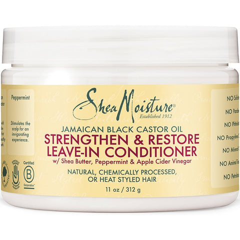Shea Moisture Jamaican Black Castor Oil Stengthen & Restore Leave-In Conditioner