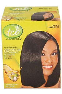 TCB Naturals Argan Oil Vitamin E & Olive No-Lye Relaxer Super