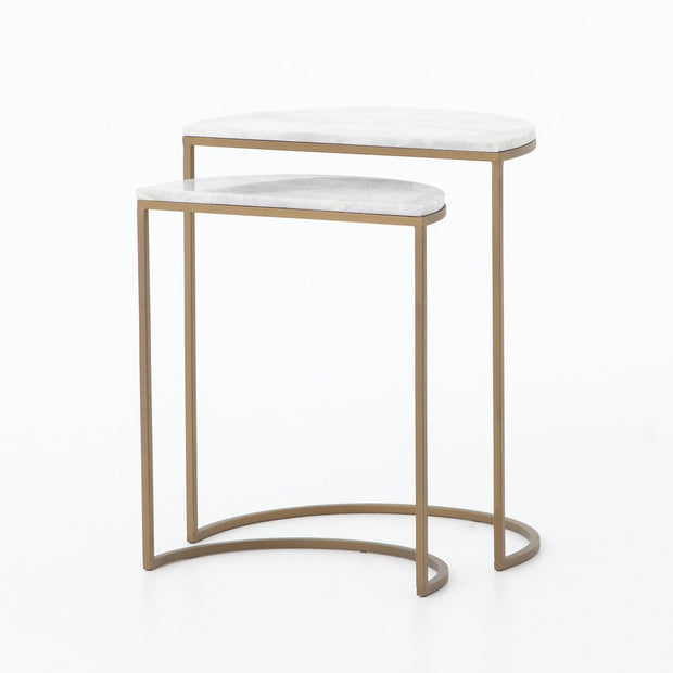 Ane Nesting Tables in Brass and Marble