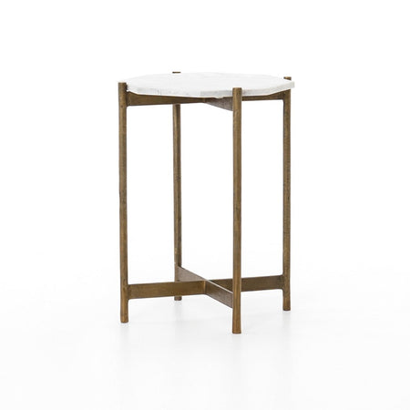 Adair Side Table in Raw Brass