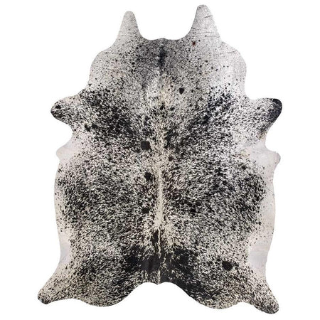 Cowhide Rug Black White Salt And Pepper XL