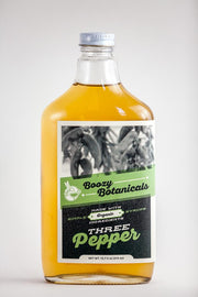 Boozy Botanicals - Three Pepper Syrup - 12.7oz Flask Bottle