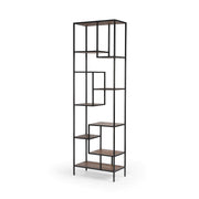 Helena Bookcase in Dark Antique Bleach - 102""