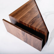 ULAH's Elliot Coffee Table in Calacatta Quartz and Solid Walnut