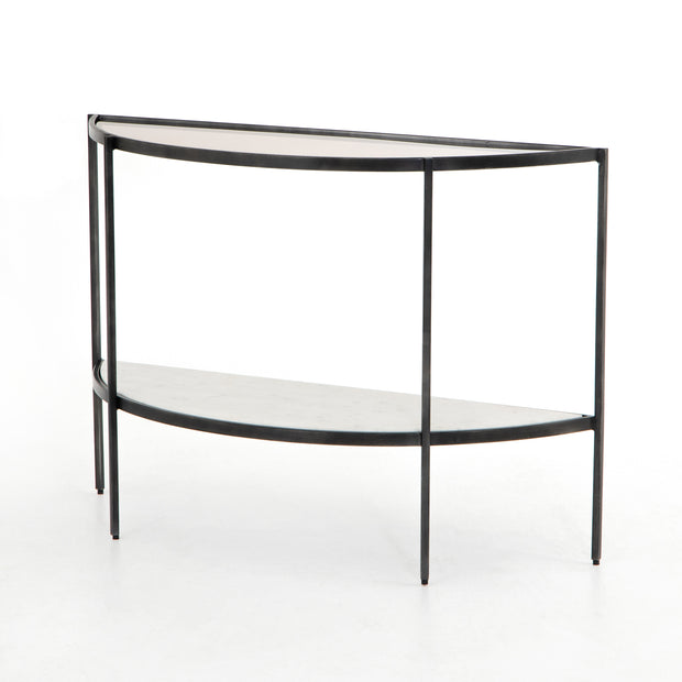 Grace Demilune Table - Grey Smoked