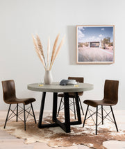 Diaw Dining Chair - Distressed Brown