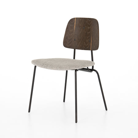 Samuel Armless Chair - Gabardine Grey