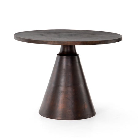 Mina Round Bistro Table - Antique Rust