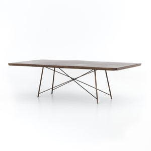 Rocky Dining Table - Bronzed Iron