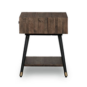Bohemian Lamp Table - Rustic Saddle Tan