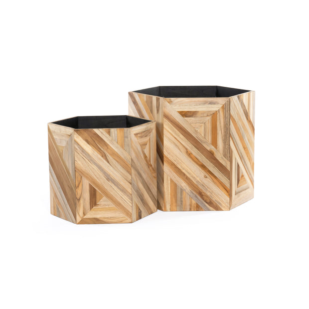 Oswell Planters - Set of 2 - Teak