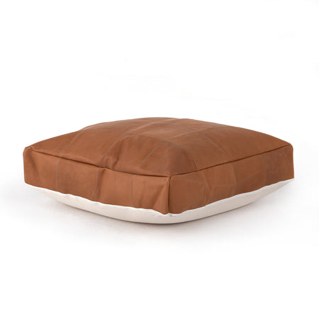 Sandro Leather Floor Cushion - Whiskey