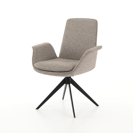 Inman Desk Chair - Orly Natural with Matte Black