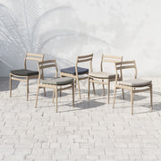 Atherton Outdoor Dining Chair - Washed Brown with Charcoal Cushion
