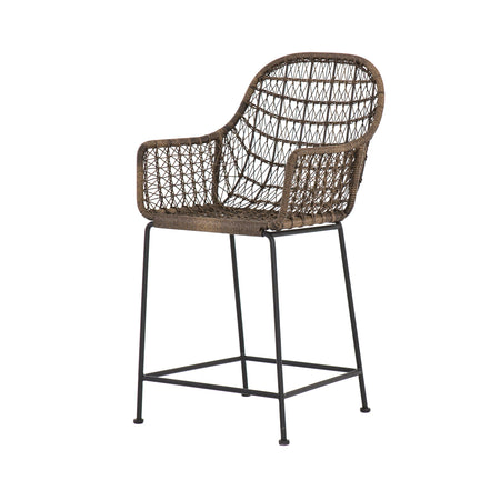 Bandera Woven Counter Stool - Distressed Grey