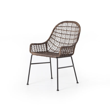 Bandera Outdoor Low Arm Woven Dining Chair - Distressed Grey