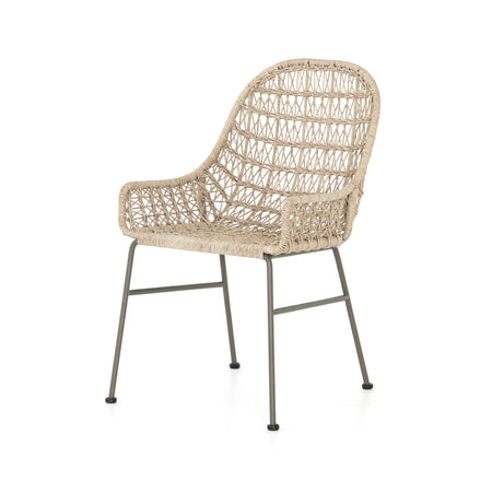 Bandera Outdoor Low Arm Woven Dining Chair - Vintage White