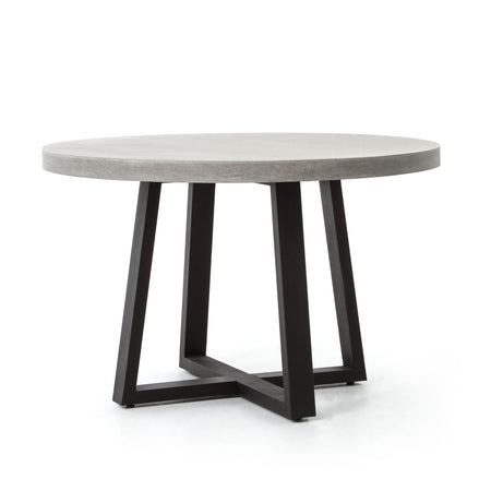 "Cyrus Round Dining Table - 48"" Grey"