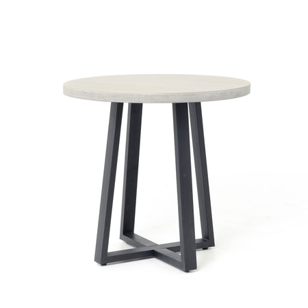"Cyrus Round Dining Table - 32"" Grey"