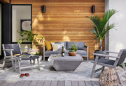 Delwin Square Outdoor Coffee Table - Grey