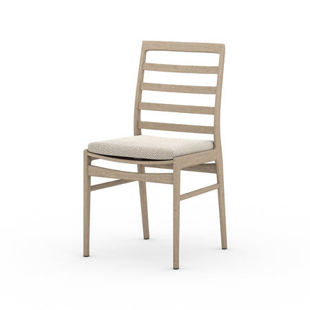 Linnet Outdoor Dining Chair - Washed Brown with Faye Sand Cushion