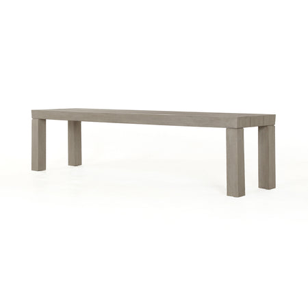 Sonora Outdoor Dining Bench - Weathered Grey