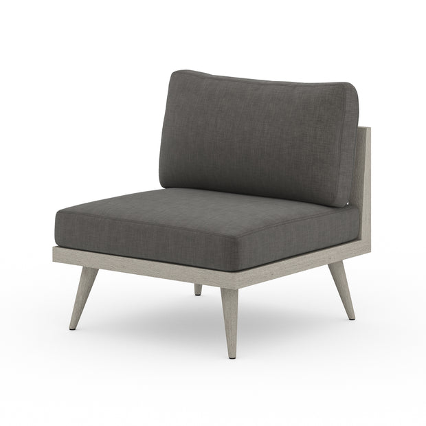 Tilly Outdoor Chair - Weathered Grey with Charcoal