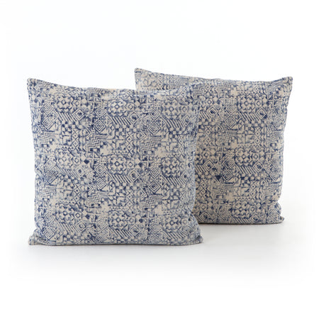 "Faded Mosaic Print Pillow 20x20"", Set of 2"