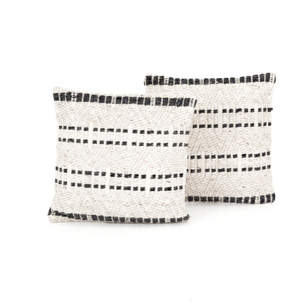 "Grey Patterned Pillow 20x20"", Set of 2"