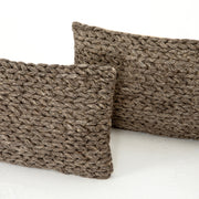 "Stone Braided Pillow 12x28"", Set of 2"