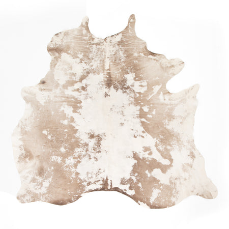 Modern Hairless Cowhide - Warm Brown