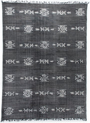 Tribal Faded Black Rug