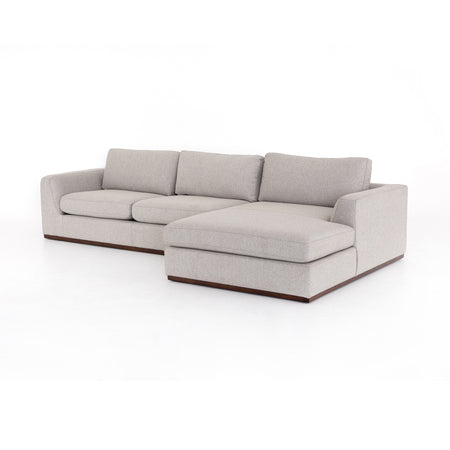 Colt 2-Piece Sectional - Aldred Silver - Right Arm Facing