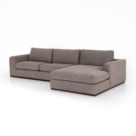 Colt 2-Piece Sectional - Gaston Pewter - Right Arm Facing
