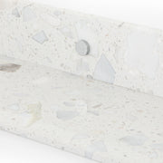 Lowry Wall Shelf, Set of 3 - White Terrazzo