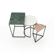 Amari Nesting End Tables - Green Marble