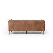 Williams Leather Sofa - Washed Chocolate 75""