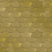 Tempaper Brass Belly in Old World Brass Metallic