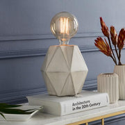Nautical Geometric Lamp with Filament Bulb