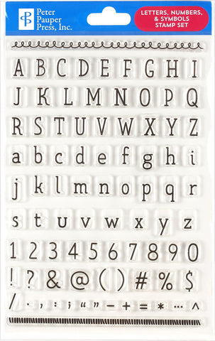 Letters, Numbers & Symbols Clear Stamp Set