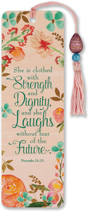 She is Clothed with Strength & Dignity Beaded Bookmark