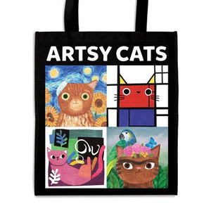 Artsy Cats Reusable Shopping Bag