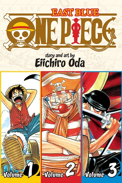One Piece (Omnibus Edition), Vol. 1 : Includes vols. 1, 2 & 3