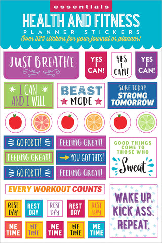 Essentials Health & Fitness Planner Stickers