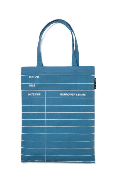 Library Card: Blue Tote Bag