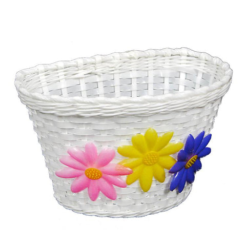 BASKET JUNIOR FLOWER WHITE