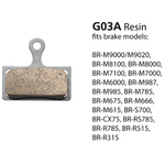 Shimano Disc Brake Pads G03A Resin Pad & Spring