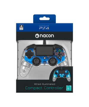 Nacon Wired Illuminated Compact Controller - Blue