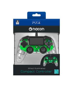 Nacon Wired Illuminated Compact Controller - Green